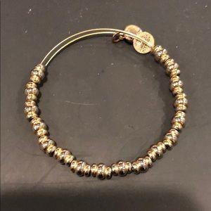 Alex and Ani gold beaded bracelet